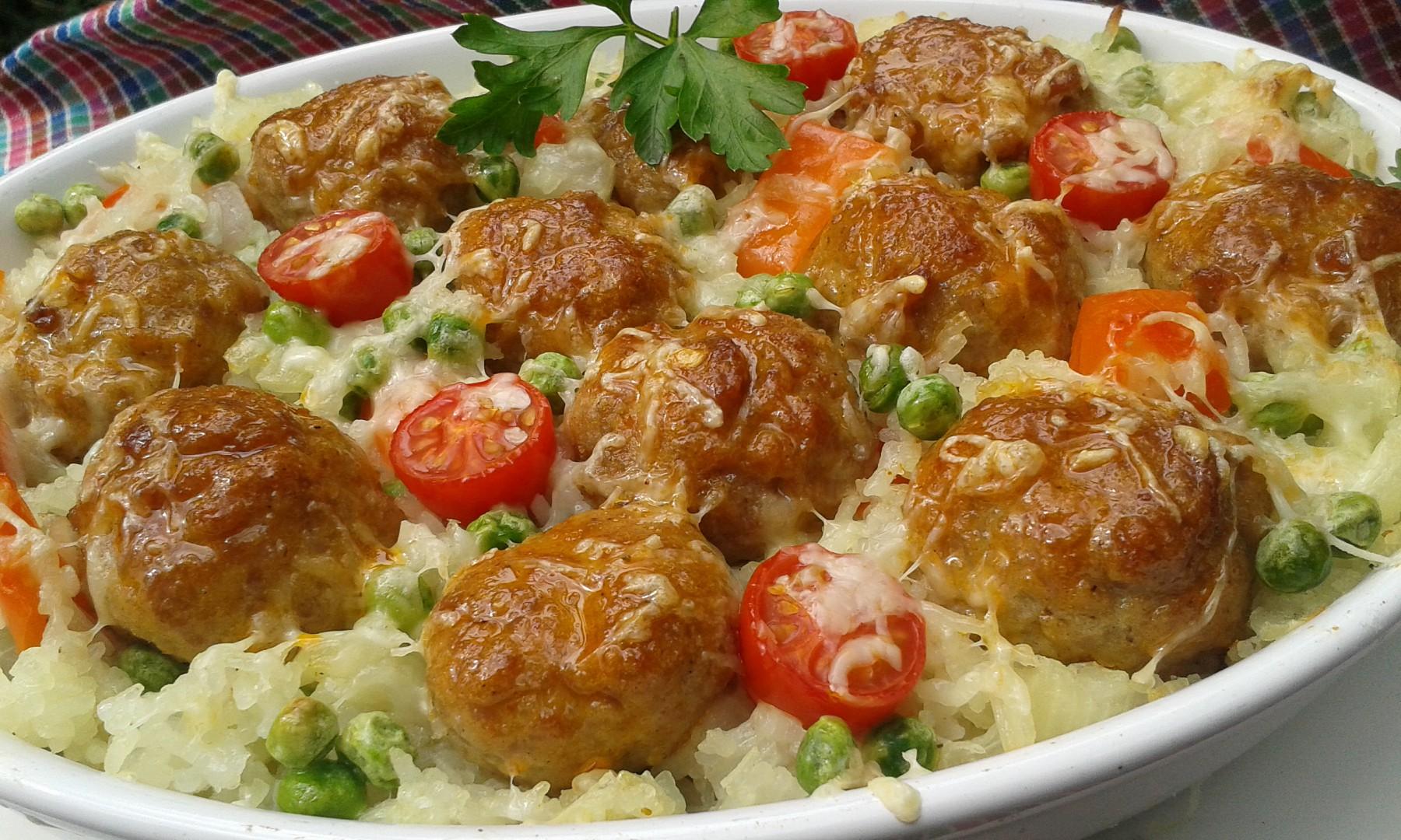 Masové kuličky v rýži recept