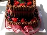 Dvoupatrový ovocný dort recept