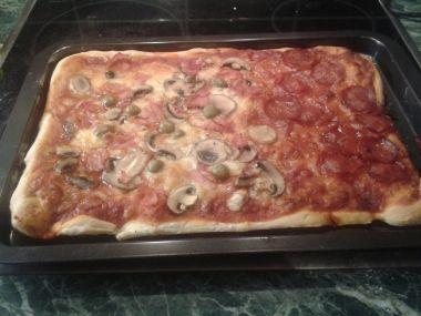 Italská domácí pizza v troubě