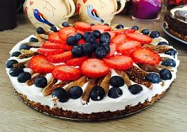 Tvarohovo-jahodový dort recept