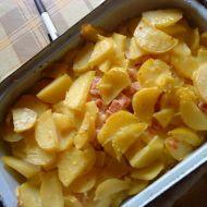 Zapečené brambory se šunkou a sýrem recept