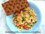 Míchaná vajíčka s lososem a zeleninkou recept