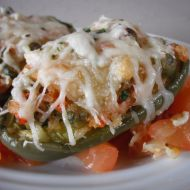 Vegetariánské plněné papriky recept