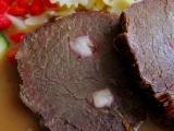 Dušené hovězí na hořčici a zelenině recept
