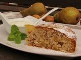 Hruškový koláč s ořechy recept