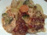 Zeleninovo-kuřecí pekáček recept