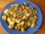 Zapékané brambory s uzeninou recept