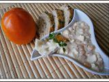 Hermelínový salát s kaki a jablkem recept