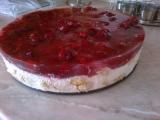 Malinovo piškotový dortík recept