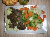 Bazalková kuřecí játra s teplou zeleninou / dietni recept ...