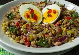 Čočkový salát s vejci recept