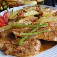 Kořeněné kuřecí plátky na smetaně recept