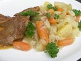 Kedlubny, mrkev, brambory dušené s majoránkovou omáčkou ...