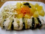 Dietní kuřecí špíz se zeleninou vařený v páře recept
