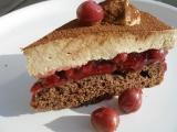 Cappuccinový dort s třešněmi recept