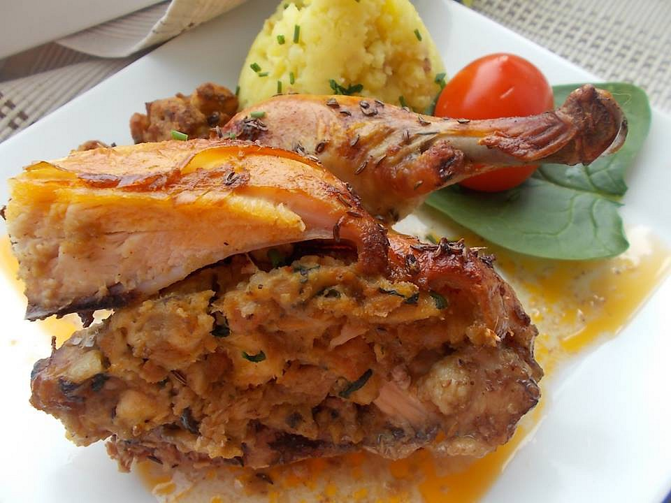 Pečené kuřátko s nádivkou  Adamova žebra recept