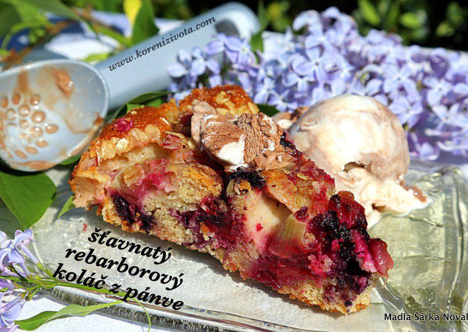 Šťavnatý rebarborový koláč ze špaldy a jogurtu recept