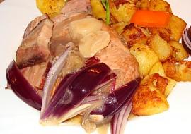 Vepřové kotlety s červenou cibulí,anglickou a česnekem recept ...