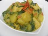 Bramborové curry se špenátem recept