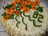 Kytičkový dort s vanilkovým pudinkovým krémem recept ...