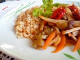 Pečená tarhoňa s restovanou zeleninou recept
