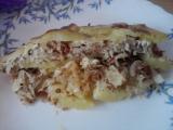Zapékané brambory se zelím a uzeným masem recept  TopRecepty ...