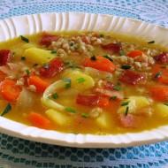 Bramborová polévka s kroupami recept