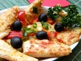 Pangas se zeleninou a olivami recept
