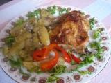 Kuře na bramborách a pórku recept