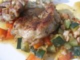 Kuřecí plátky na zelenině recept