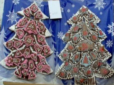 Stromky z perníku  adventní kalendář