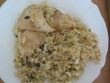 Kuře s houbovočesnekovou rýží recept