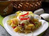 Bramborový salát s pórkem, tofu a kapií recept