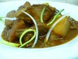 Guláš z vepřového masa s bramborami a houbami recept ...