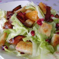 Jarní salát se slaninou recept