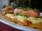 Ryba na bramborovém pyré s omáčkou recept