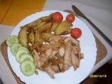 Kuřecí nudličky se zeleninou na víně recept