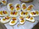Ovocno-sýrové chlebíčky recept