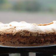 Tvarohovo-jablečný koláč se sněhovou čepicí recept