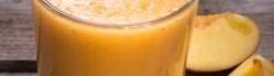 Broskvové  smoothie s vanilkovým pudinkem