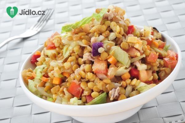 Čočkový salát s těstovinami recept