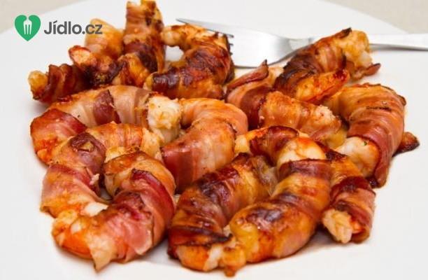 Grilované krevety ve slanině recept