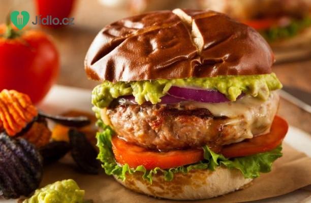 Hamburger s kuřecím masem a s jalapeno recept