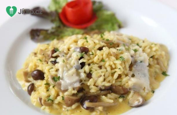 Italské houbové rizoto recept