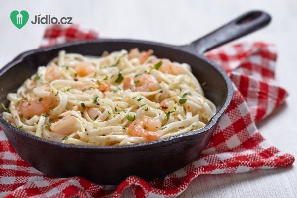 Italské těstoviny s krevetami recept