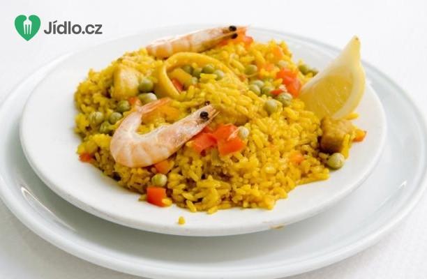 Jednoduchá paella s mořskými plody recept