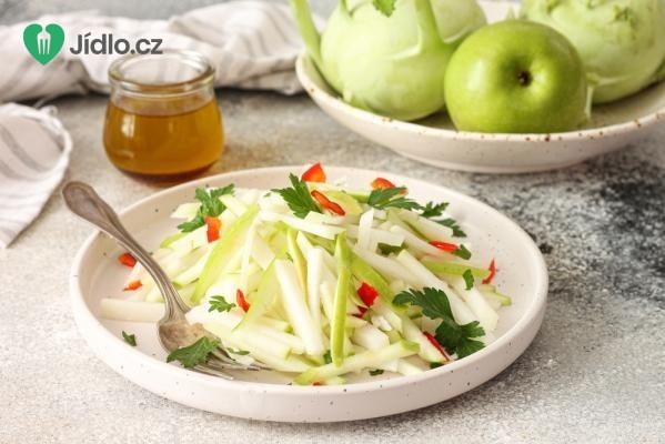 Kedlubnový salát s jablky recept
