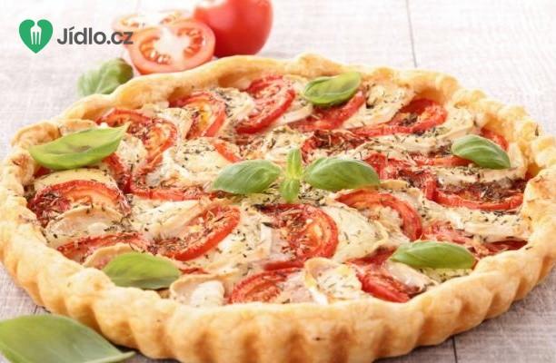Koláč se šunkou, sýrem  a cherry rajčátky recept