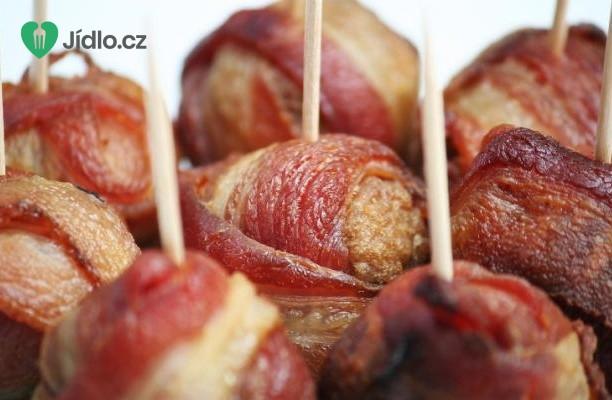 Kuřecí  masové kuličky ve slanině recept