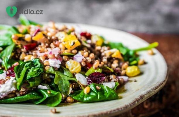 Pečená zelenina s cizrnou, quinoa pestem recept